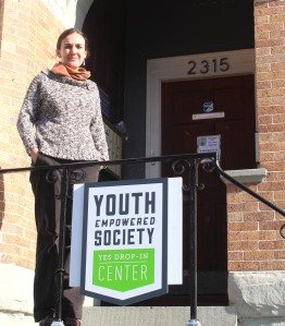 Photo By:Garland YoungLara Law stands outside YES Drop-In center.