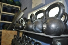 CrossFit Towson has free weights along the walls of the gym. The gym opened just over a year ago as the sport has grown worldwide.