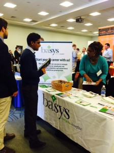 The class of 2014 is participating the job fair that held by the career center at Towson University
